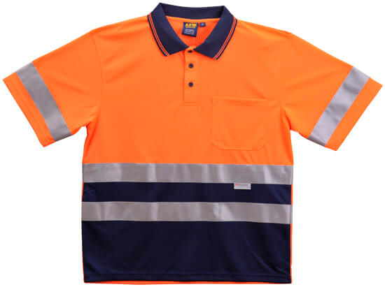WS Hi Vis 3M Tapes Mens Safety Polo (4XL to 7XL) SW17-X 2