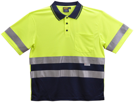 WS Hi Vis 3M Tapes Mens Safety Polo (4XL to 7XL) SW17-X 3