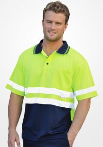 WS Hi Vis 3M Tapes Mens Safety Polo (S to 3XL) SW17