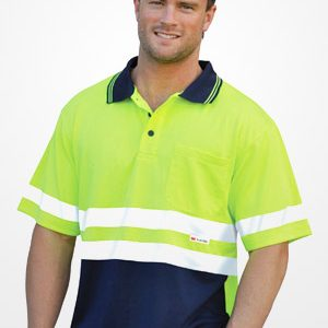 WS Hi Vis 3M Tapes Mens Safety Polo (4XL to 7XL) SW17-X