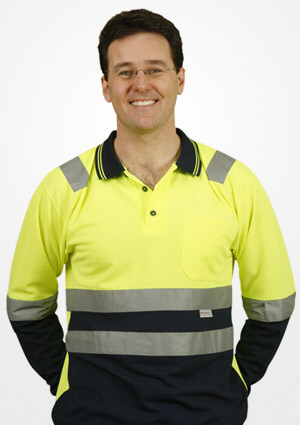 WS 3M Tape Safety Mens Long Sleeve Polo (4XL to 7XL) SW21-X