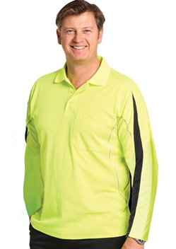 WS Hi-Vis Legend Mens Long Sleeve Polo SW33A