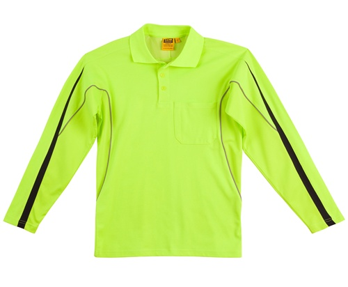 WS Hi-Vis Legend Mens Long Sleeve Polo SW33A 3