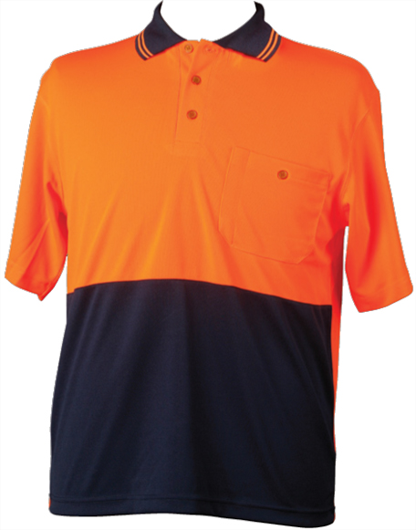 WS Two Tone Cotton Mens Short Sleeve Safety Polo (5XL to 7XL) SW35-X 3