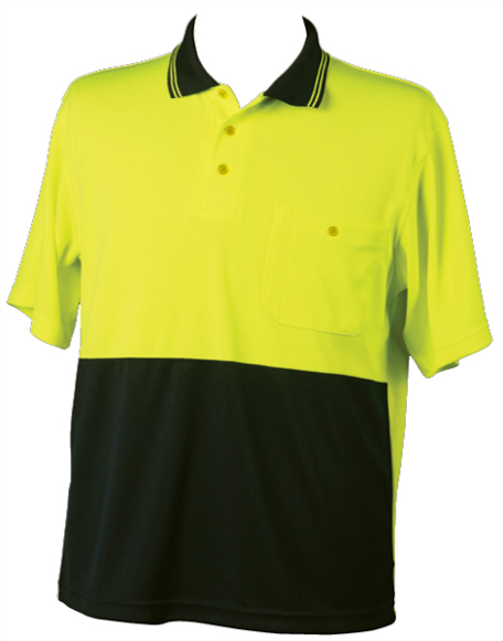WS Two Tone Cotton Mens Short Sleeve Safety Polo (5XL to 7XL) SW35-X 2