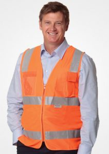 WS Hi Vis Safety Vest with ID Pocket and 3M Tapes SW42