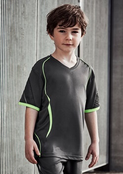 Biz Razor Kids V-Neck Tee T406KS 1
