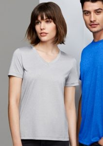 Biz Aero Ladies V-Neck Tee T800LS
