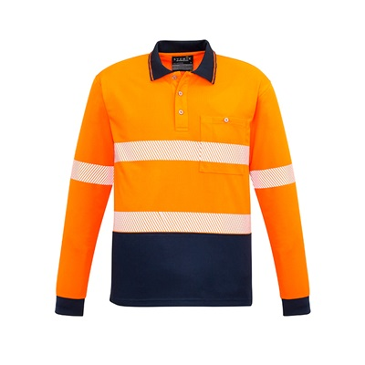SYZ Unisex Hi Vis Long Sleeve Polo ZH530 2