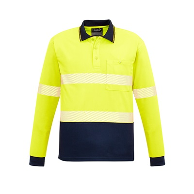 SYZ Unisex Hi Vis Long Sleeve Polo ZH530 4