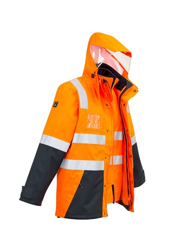 SYZ Unisex Hi Vis 4 in 1 Water Proof Jacket ZJ532 3
