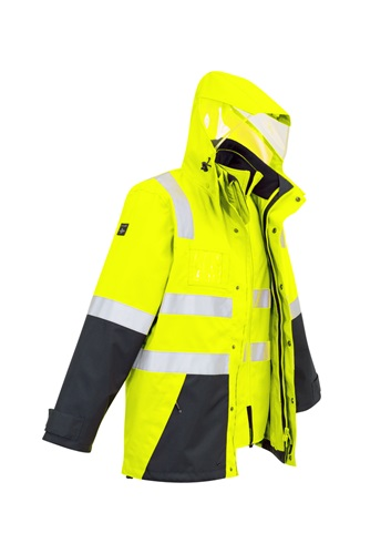 SYZ Unisex Hi Vis 4 in 1 Water Proof Jacket ZJ532 4