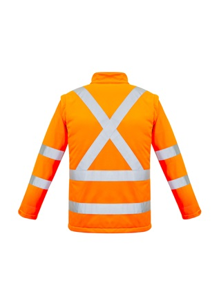 SYZ Unisex Hi Vis 2 in 1 Soft Shell Jacket ZJ680 3