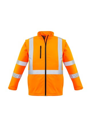 SYZ Unisex Hi Vis 2 in 1 Soft Shell Jacket ZJ680 2