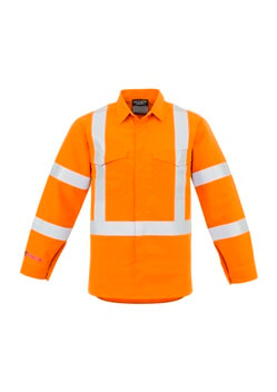 SYZ Mens X Back Hi Vis Spliced Shirt ZW137