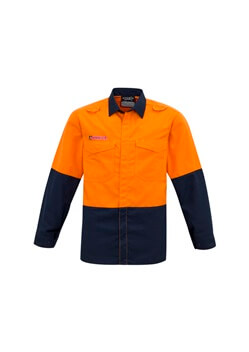SYZ Mens Hi Vis Spliced Shirt ZW138 1
