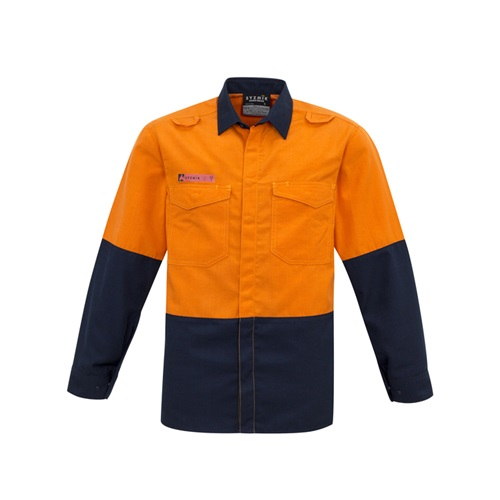 SYZ Mens Hi Vis Spliced Shirt ZW138 4