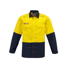 SYZ Mens Hi Vis Spliced Shirt ZW138 3