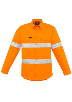 SYZ Hi Vis Hoop Taped Long Sleeve Shirt ZW640 1