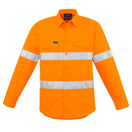 SYZ Hi Vis Hoop Taped Long Sleeve Shirt ZW640 2