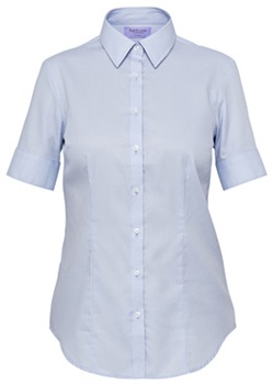VH Ladies Mini Herringbone Classic Fit Short Sleeve Shirt AWS81U