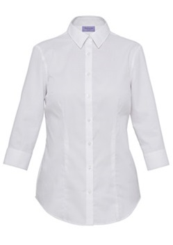 VH Ladies Mini Herringbone Classic Fit 3/4 Sleeve Shirt AWTQ81U 1