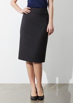 Biz Classic Ladies Below Knee Skirt BS29323 1