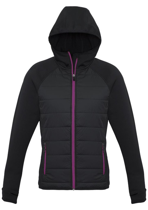 Biz Stealth Tech Ladies Hybrid Hoodie Jacket J515L 5