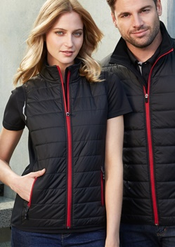 Biz Stealth Ladies Hybrid Quilted Vest J616L 1