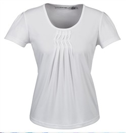 Biz Deco Ladies Short Sleeve Pleat Top K123LS 5