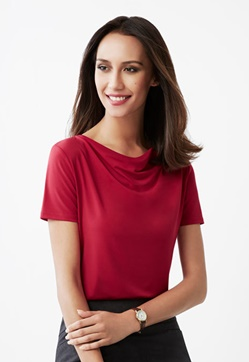 Biz Ava Ladies Drape Knit Top K625LS