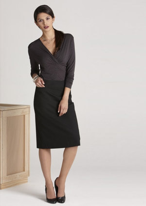 BC Ladies Wool Stretch Relaxed Fit Skirt 24011 1