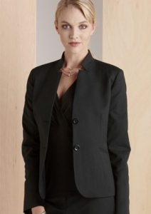 BC Ladies Cool Stretch Plain Short Jacket with Reverse Lapel 60113