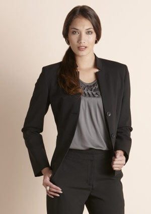 BC Ladies Wool Stretch Short Jacket with Reverse Lapel 64013 1