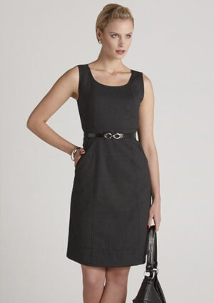 BC Ladies Wool Stretch Sleeveless Side Zip Dress 34011 1