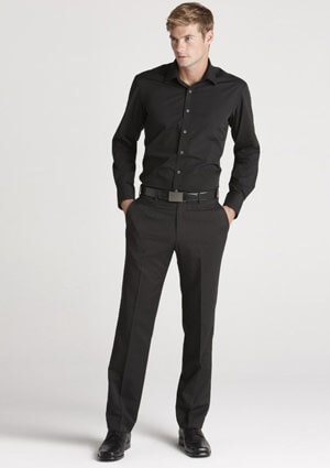 BC Mens Cool Stretch Plain Flat Front Pants 70112 1