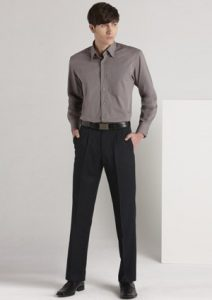 BC Mens Cool Stretch Pinstripe One Pleat Pants 70211