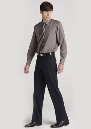 BC Mens Wool Stretch One Pleat Pants 74011