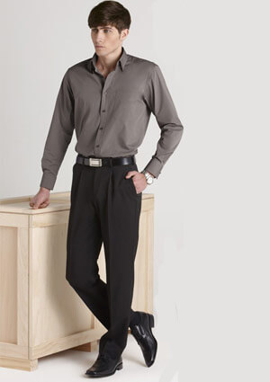 BC Mens Cool Stretch Plain One Pleat Pants 70111