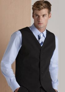 BC Mens Wool Stretch Vest with Knitted Back 94011