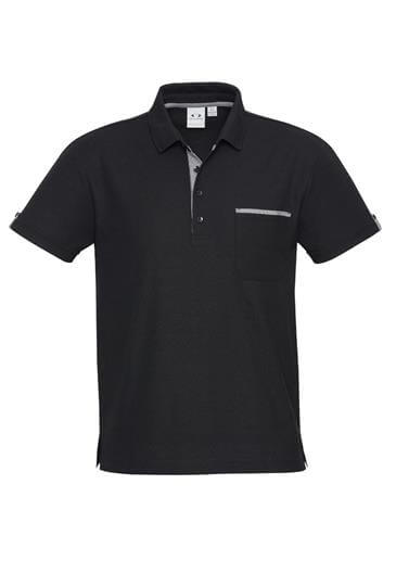Biz Edge Mens Contrast Check Polo P305MS