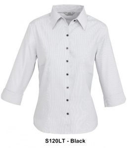 Biz Signature Ladies 3/4 Sleeve Check Shirt S120LT 5