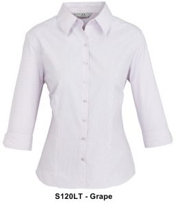 Biz Signature Ladies 3/4 Sleeve Check Shirt S120LT 4
