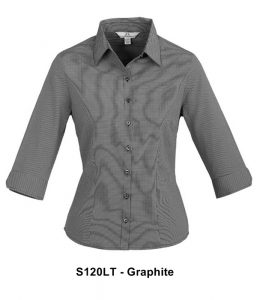 Biz Signature Ladies 3/4 Sleeve Check Shirt S120LT 2