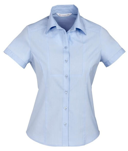 Biz Chevron Ladies Short Sleeve Shirt S122LS 3