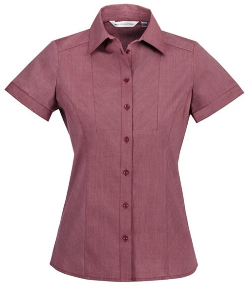 Biz Chevron Ladies Short Sleeve Shirt S122LS 2