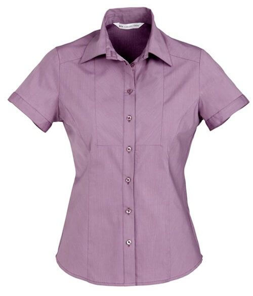Biz Chevron Ladies Short Sleeve Shirt S122LS 4