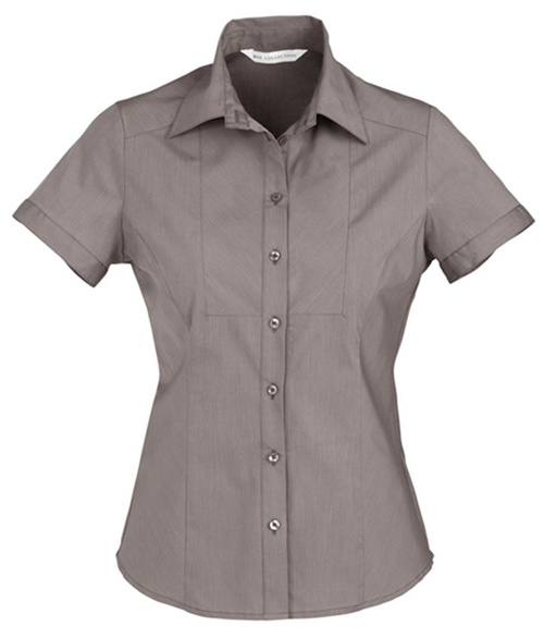 Biz Chevron Ladies Short Sleeve Shirt S122LS 5