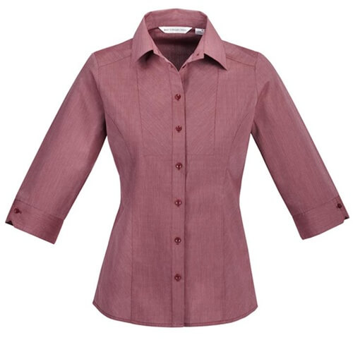 Biz Chevron Ladies 3/4 Sleeve Shirt S122LT 2