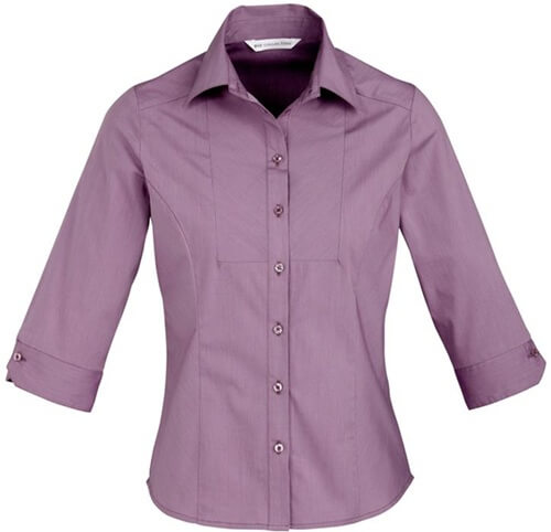 Biz Chevron Ladies 3/4 Sleeve Shirt S122LT 4